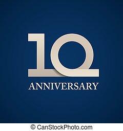 年, 10, ペーパー, 数, 記念日