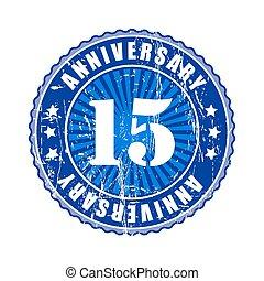 年, 15, 記念日, stamp.