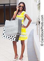 幸せな女性, ショッピングセンター, アフリカ