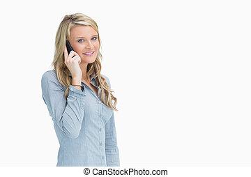 幸せな女性, 電話