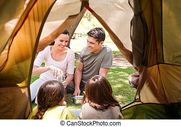 幸せな家族, キャンプ, 公園