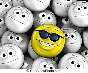 幸せな微笑すること, emoticon, 顔, の中, 他