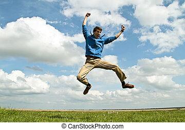 幸せな控索, 跳躍, 空気