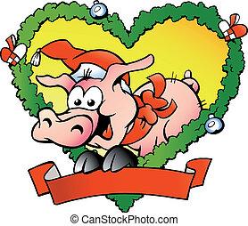 幸せな クリスマス, 脂肪, 豚