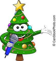 幸せ, ∥あるいは∥, 隔離された, クリスマス, 白, マイクロフォン, クリスマス, 話すこと, マスコット, 特徴