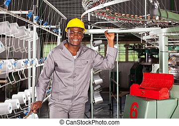 幸せ, アフリカ, 織物工場, 労働者