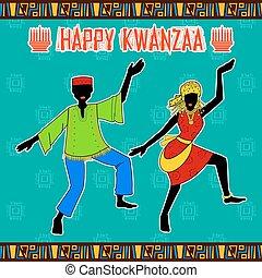 幸せ, アメリカ人, 休日, 収穫, kwanzaa, アフリカ, 挨拶, 祝祭, 祝福