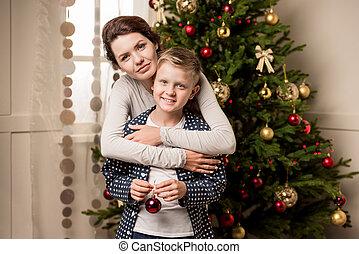 幸せ, イブ, 家族の クリスマス