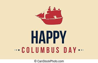 幸せ, コロンブス, デザイン, 背景, 日