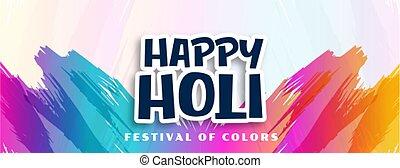 幸せ, ストローク, 抽象的なデザイン, 色, 背景, holi