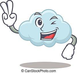 幸せ, デザイン, 青, 指, 漫画, 雲, 2, 概念