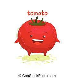 幸せ, トマト, 微笑, かわいい
