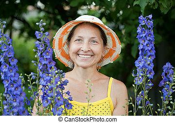 幸せ, ヒエンソウ, 植物, 庭師