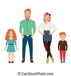 幸せ, 偶然, 家族, 衣服