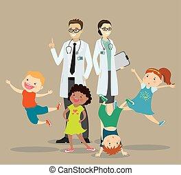 幸せ, 医者, 恋人, 活動的, 健康, 子供, 概念