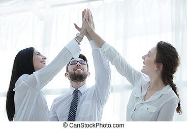 幸せ, 同僚, 寄付, お互い, a, 高い 5