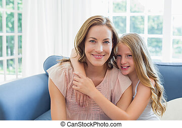 幸せ, 娘, 包含, 母, 中に, 反響室