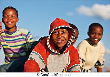 幸せ, 子供, アフリカ