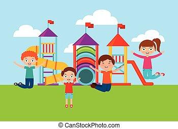 幸せ, 子供, 遊び