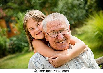 幸せ, 孫, 祖父