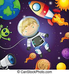 幸せ, 宇宙飛行士, スペース