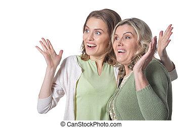 幸せ, 年長の 女性, ∥で∥, 娘