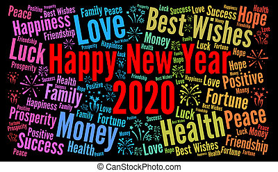 幸せ, 年, 新しい, 2020
