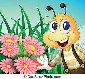 幸せ, 庭, 蜂