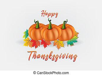 幸せ, 感謝祭, カボチャ, カード