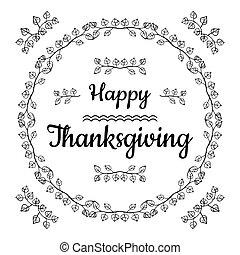 幸せ, 感謝祭, カード, デザイン