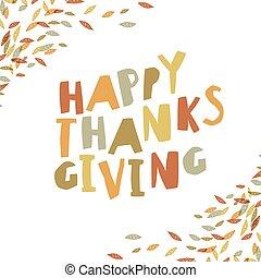 幸せ, 感謝祭, カード, design., ペーパー, 切口, 手紙, そして, 落ちている, leaves., ∥ために∥, 休日, グリーティングカード, デザイン, そして, 他, projects.