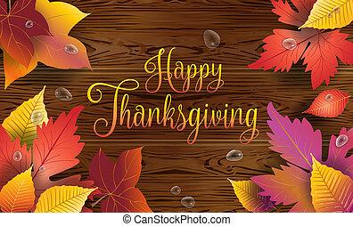 幸せ, 感謝祭, グリーティングカード