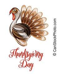 幸せ, 感謝祭, 日, グリーティングカード, ∥で∥, 抽象的, トルコ