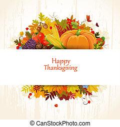幸せ, 感謝祭, 日, 祝福, フライヤ, あなたのため, デザイン
