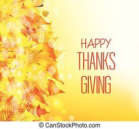 幸せ, 感謝祭, day., 紅葉, 背景