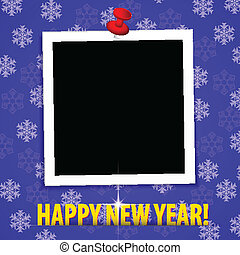 幸せ, 新しい, year!, グリーティングカード, ∥で∥, ブランク, 写真フレーム