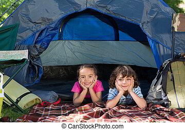 幸せ, 旅行, キャンプ, 兄弟