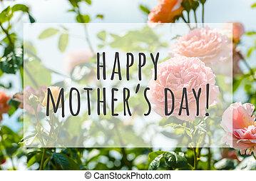 幸せ, 日, 母