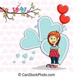 幸せ, 日, 背景, バレンタイン