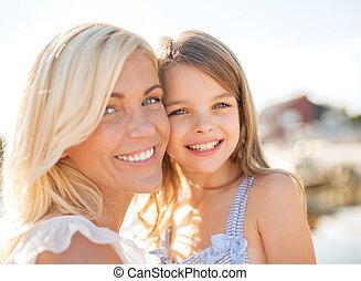 幸せ, 母 と 子供, 女の子