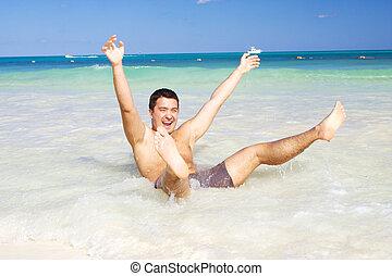 幸せ, 浜, 人