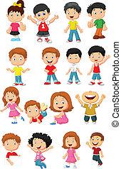 幸せ, 漫画, コレクション, 子供