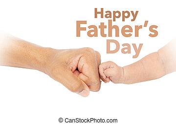 幸せ, 父の日, 握りこぶし, こぶ