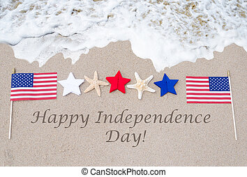幸せ, 独立, 背景, アメリカ, 日
