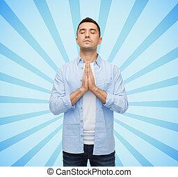 幸せ, 祈ること, 人