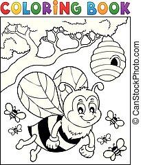 幸せ, 蜂, 主題, 2, 着色 本