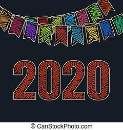 幸せ, 2020, お祝い, 背景