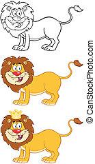 幸せ, character., ライオン, コレクション