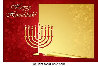 幸せ, hanukkah, カード, 願い