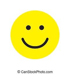 幸せ, icon., 微笑, シンボル。, 顔